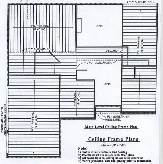 Ceiling Frame Plan