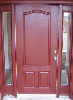 painted fiberglass door