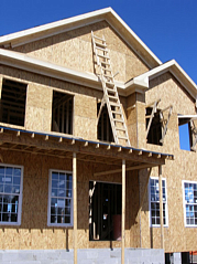 Install exterior doors and windows.