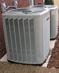 Electric heat pump – two story house