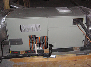 Heat pump air-handler in attic