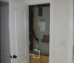 Air-handler in first floor closet