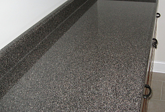 A laminate with a granite look