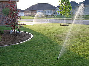 installed sprinkler system